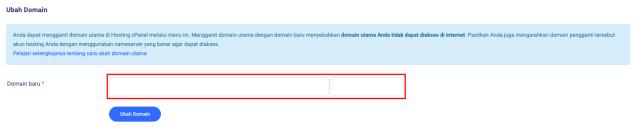 Ubah domain