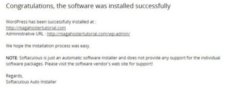 notifikasi instalasi selesai