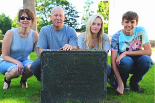 My family and I at the gravesite of some deceased relatives