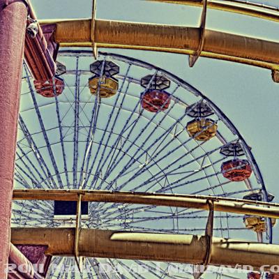 Santa Monica Pier and Pacific Park Amusement Park | HDR Images