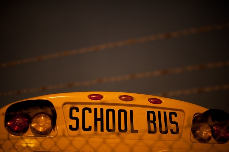 San Francisco Bay Area Industrial Photography School Bus Barbed Wire Night Photography - Niall David Photography-5259