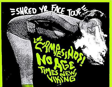 , Shred Yr Face tour in Dublin tonight