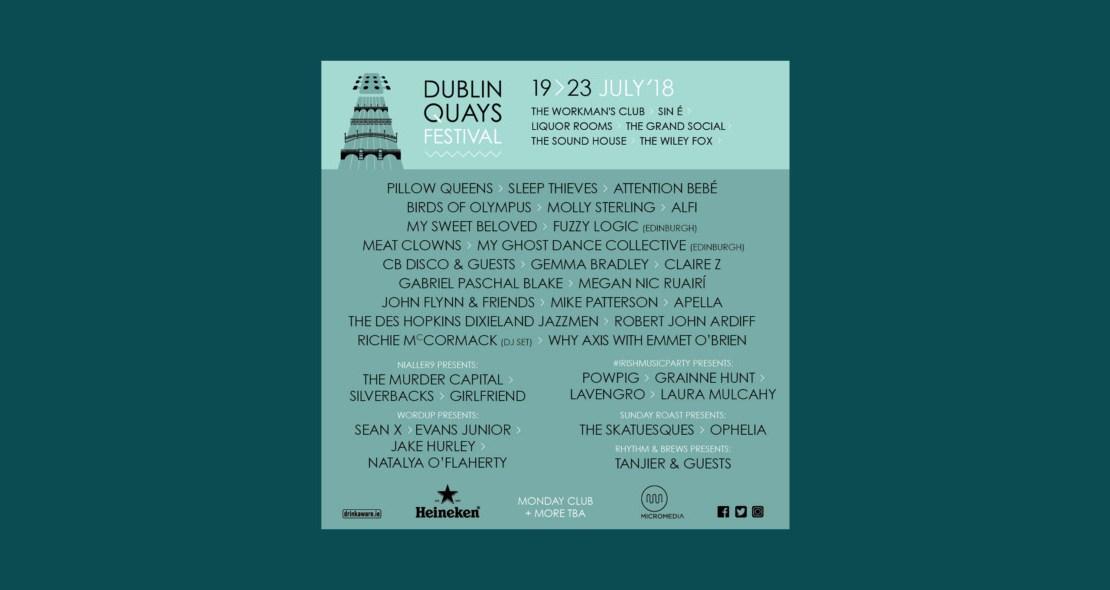, Dublin Quays Festival returns featuring Pillow Queens, Sleep Thieves, The Murder Capital, Robert John Ardiff, Silverbacks and many more