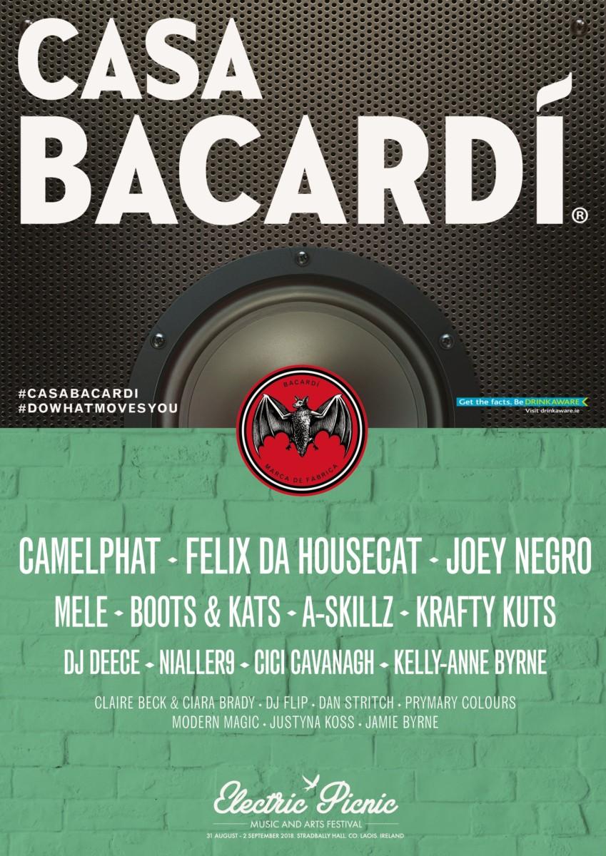 , Camelphat, Joey Negro, Felix Da Housecat, Boots & Kats, Nialler9, DJ Deece & more for Casa Bacardí @ Electric Picnic