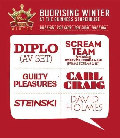 , Bud Rising free gig lineup