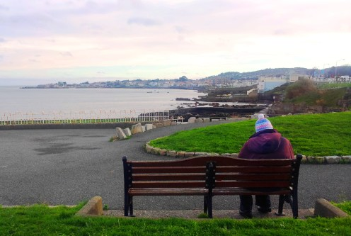 """""""A penny for your thoughts"""" - Dun Laoghaire East Pier toward Sandycove"""