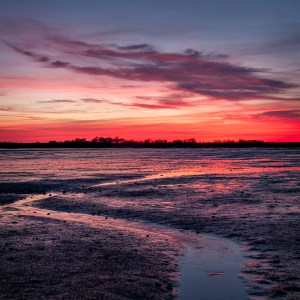Mudflat Sunset, Nial Whelan Photography, March 26, 2017