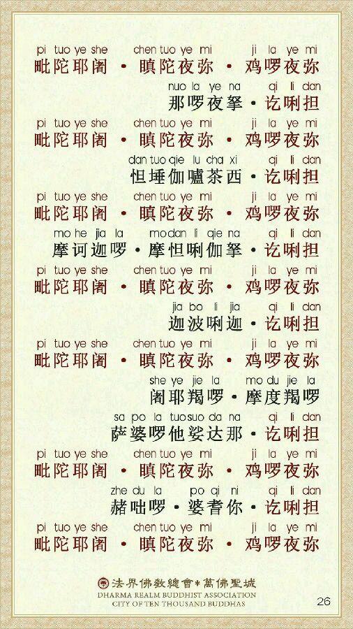非常殊勝的楞嚴咒易背卡(強烈推薦) - 念覺學佛網