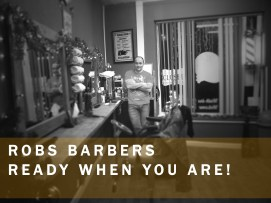 Robs barbers advertising campaign