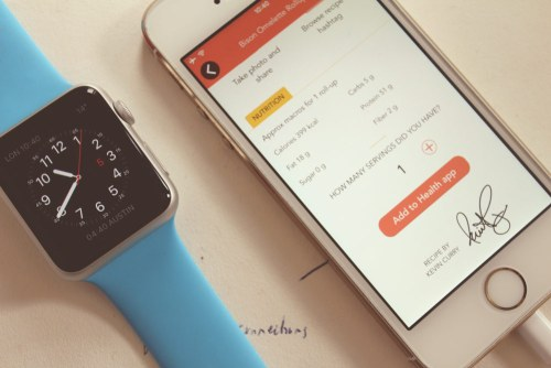 HealthKit and the Apple Watch side by side