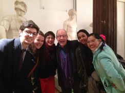 With Jerry Saltz at NY Academy of Art.