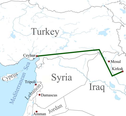 oliepijplijn koerdistan turkije