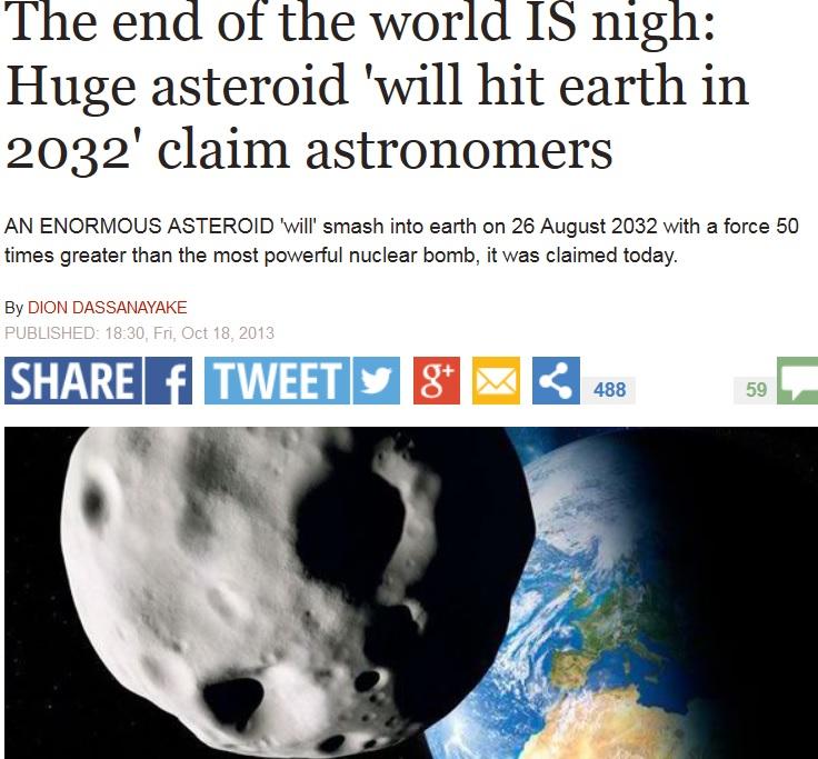voorspelling asteroïde 2032