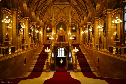 The main entrance of the Parlement