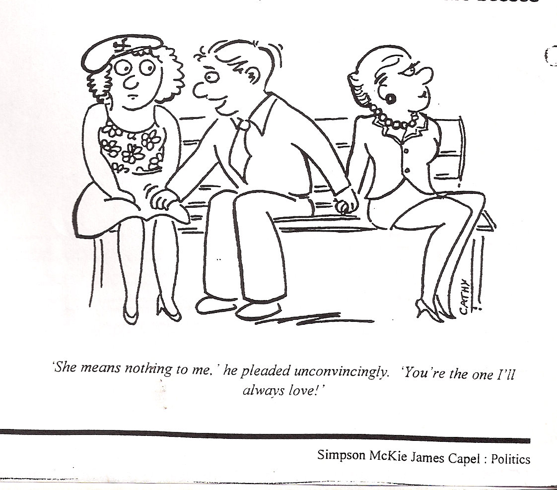 Febuary 1997 - a cartoon I commissioned - drawn by a friend - at least it's consistent!