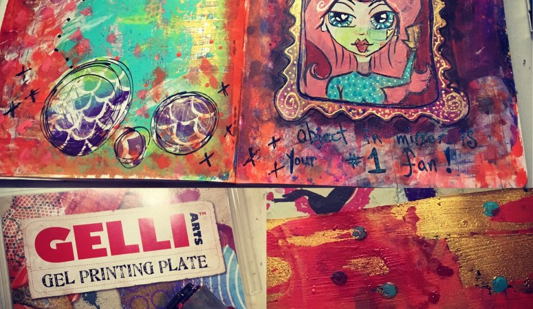 Playing with my Gelli Plate!