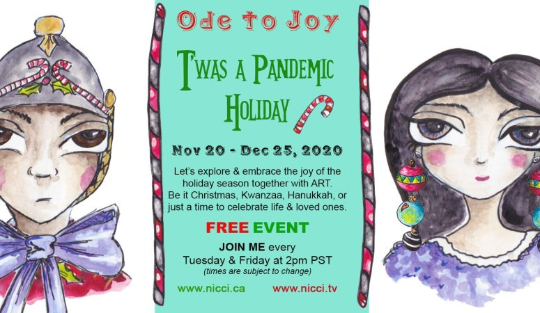 T'was a Pandemic Holiday ~ Art Adventure