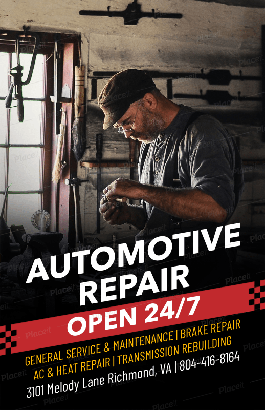 auto repair flyer maker