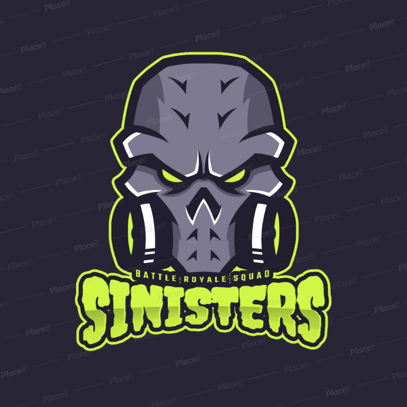 gaming logo template featuring