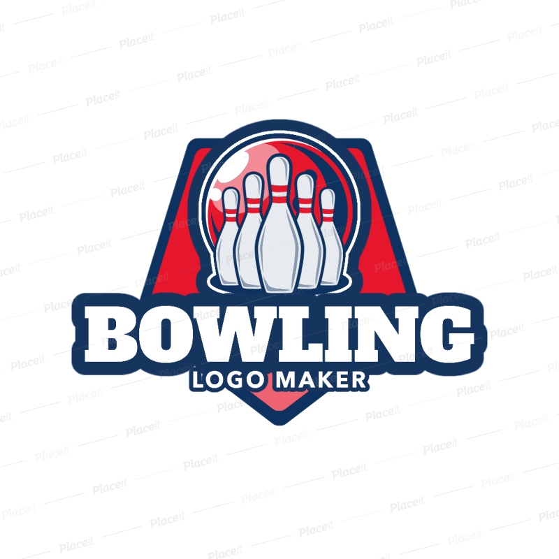 bowling logo maker with