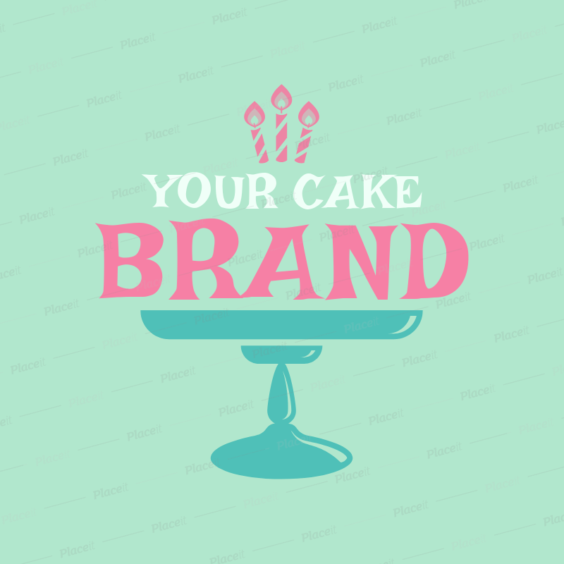 Placeit Bakery Logo Maker For A Cupcake Shop