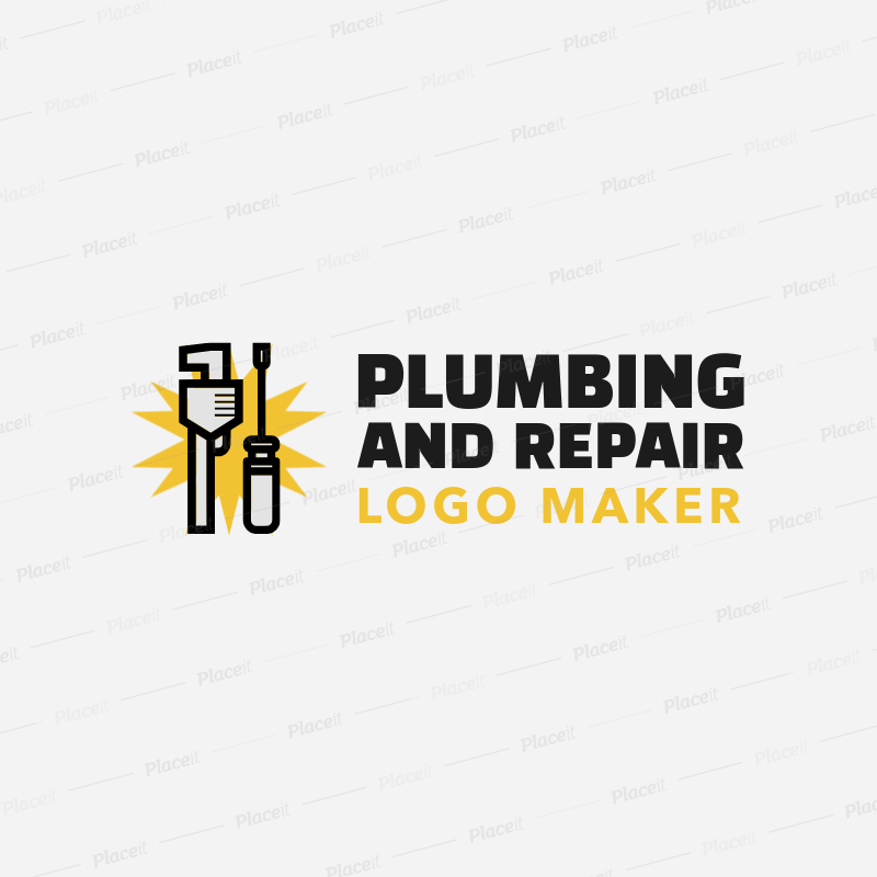 Placeit Online Logo Maker For A Plumbing Company With Wrench Clipart With Tool Clipart