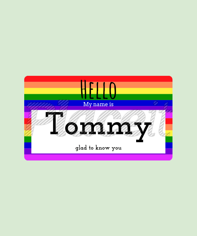 Placeit Custom Name Tag T Shirt Design Template