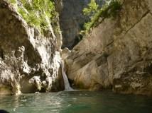 canyoning verdon saut toboggan tyrolienne