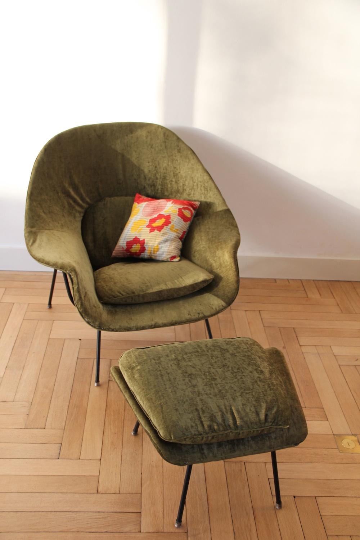 lounge chair dimensions canvas beach womb by eero saarinen for knoll   nicechairs