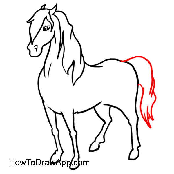 Learn how to draw a horse step-by-step.