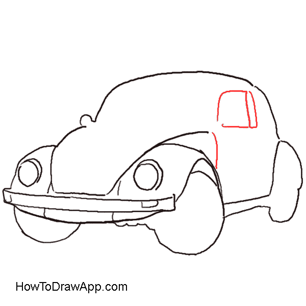 How to draw a Volkswagen Beetle aka Volkswagen Bug