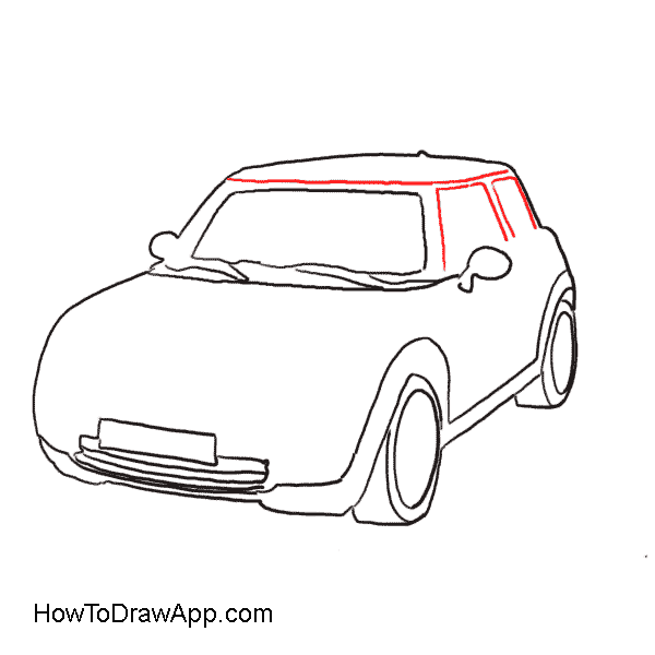 How to draw a mini cooper car step by step with pictures