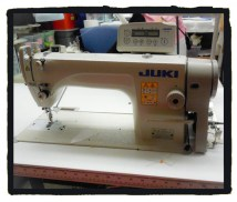 Getting down to business... A heavy duty Juki sewing machine.