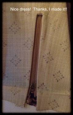 Zipper placed under sleeve opening.