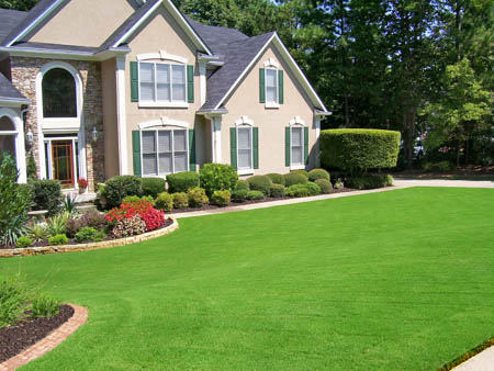 nice green & beautiful landscaping