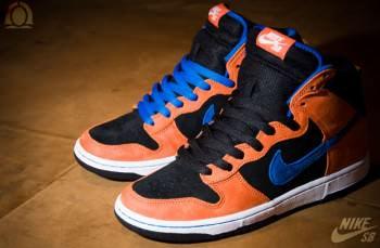 hot sale online 19077 77145 Nike SB Dunk High Supreme Deep Orange/Blue Sapphire-Black ...