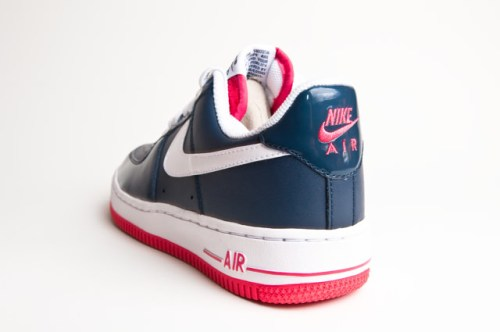 super popular 343d3 028c1 Nike Air Force 1 Navy Blue White-Red Nike Air Force 1