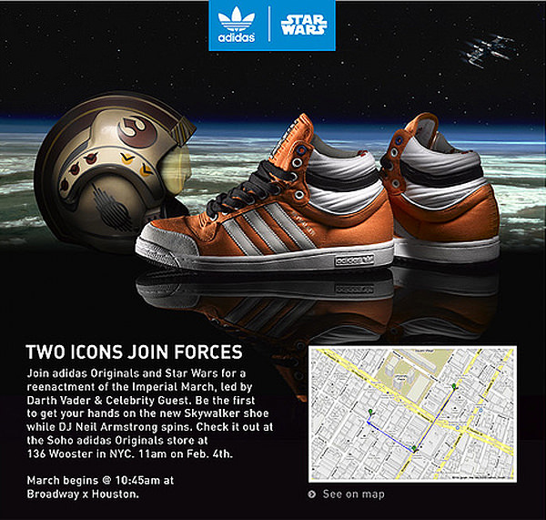 Adidas Originals & Star Wars Reenact Imperial March Nice Kicks    Adidas Originals & Star Wars Reenact Imperial March   title=          Nice Kicks