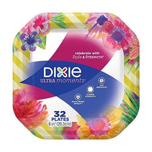 Dixie Ultra Moments 8 Plates Seasonal Design 32 ct