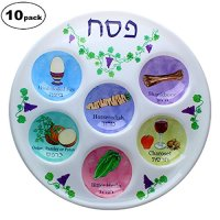 Disposable Plastic Seder Plate for Passover Pack of 10 ...
