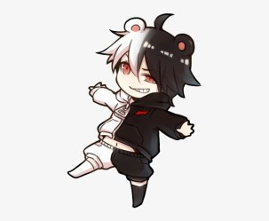 Monokuma Chibi Hình Anime Boy Chibi Transparent PNG 435x615 Free Download on NicePNG
