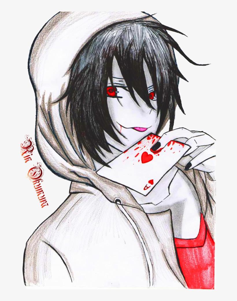 Jeff The Killer Anime Cute : killer, anime, Drawn, Killer, Anime, Style, Transparent, 675x960, Download, NicePNG