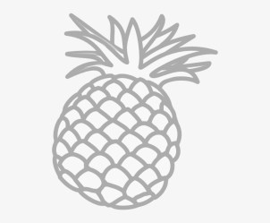 Small Outline Image Of Pineapple Transparent PNG 504x598 Free Download on NicePNG