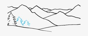 mountains easy draw drawing mountain simple tutorial really nicepng clipartmag