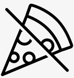 No Food Icon Pizza Icon Transparent Background Transparent PNG 1600x1600 Free Download on NicePNG