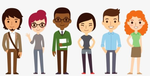 Students Cartoon Group Of People Png Transparent PNG 2200x933 Free Download on NicePNG