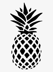 as For Pineapple It s Far More Versatile Than You Black And White Pineapple Outline Transparent PNG 640x1200 Free Download on NicePNG