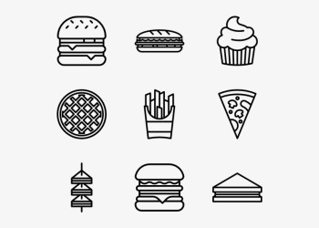 Fast Food 40 Icons Icon Transparent PNG 600x564 Free Download on NicePNG