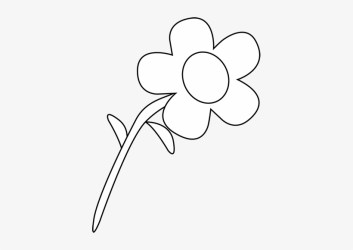 Flower Outline Free Mycutegraphics Clipart Flower Black & White Transparent PNG 391x500 Free Download on NicePNG