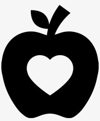 Pair Of Apples Outline Png Apple Silhouette Transparent PNG 850x981 Free Download on NicePNG